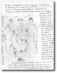 dessin et notes de Max Jacob