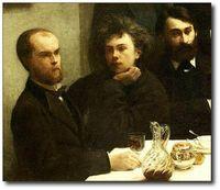 Verlaine et Rimbaud par Manet