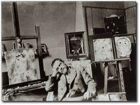 Paul Klee dans son atelier