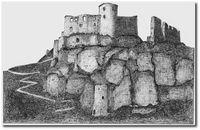 Château Gaillard, encre de Claude Lévesque