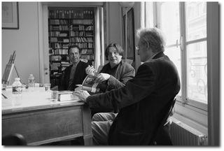 Présentation du livre au Pen Club (JLuc Despax, Jean Portante, Lionel Ray), juin 2012 - © PPierre Kobel
