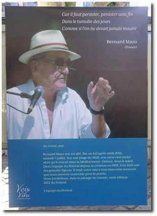Bernard Mazo, Sète 2012