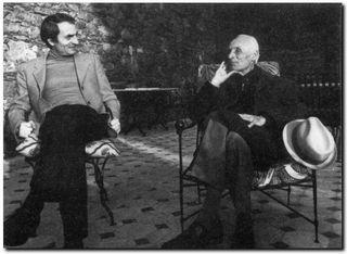 Charles Juliet et Bram van Velde en 1973