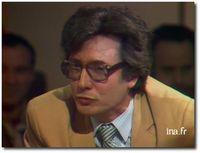 Lionel Ray, sur le plateau d'Apostrophes en mai 1981
