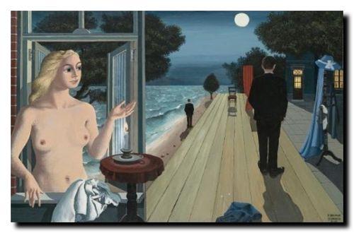 Paul Delvaux, Les adieux, 1964