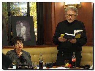 Mars 2013 - Lecture au Flore en compagnie de Paul de Brancion - © PP.Kobel