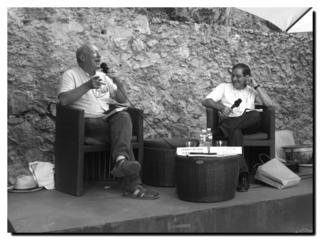 Nuno Júdice à Sète en 2012 avec Gérard Meudal - © PPKobel