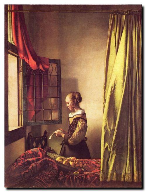 La jeune fille lisant une lettre de Johannes Vermeer