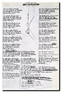 Éluard, manuscrit de Liberté