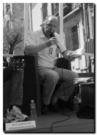 Guy Goffette, festival Voix Vives - Sète 2012 - Photo P.Kobel
