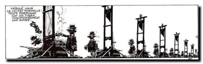 Dessin de Franquin, Idées noires